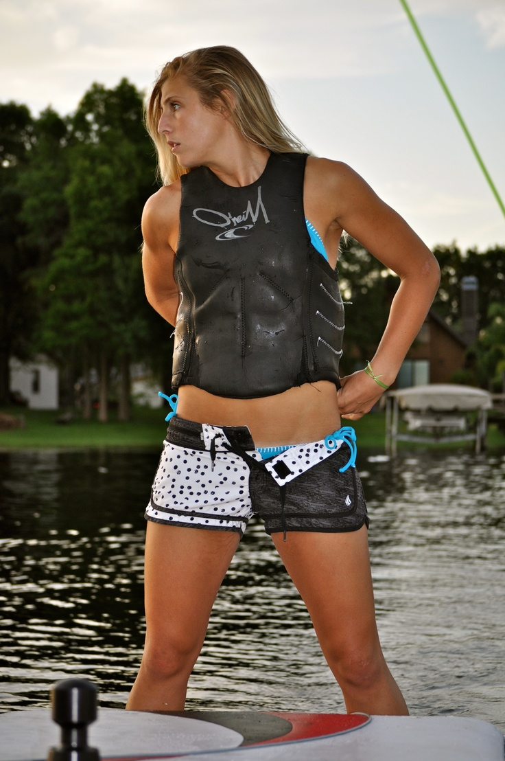 Girls, wakeboarding  is good for the body!