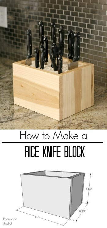 How to build a custom, rice filled knife block. Easy beginner builder project.