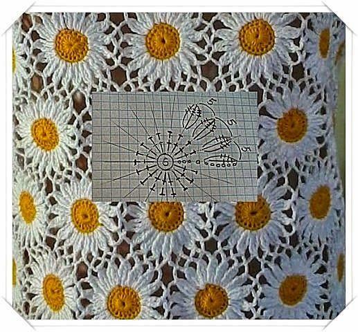 Crochet y dos agujas: Manzanillas al crochet en 2 versiones - diagramas ...