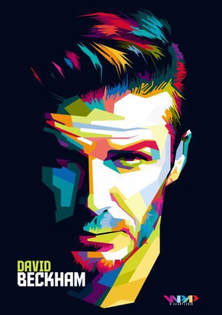 David Beckham in Wedhas Pop Art Portrait