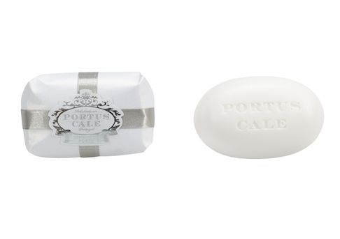 Portus Cale White Silver 150g Triple milled, hand pressed soap Fragrance: Black Fig and Pomegranate Made in Portugal  Distributed in Australia by Supertex