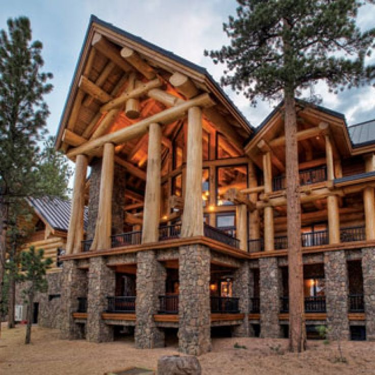 16 best images about log homes on pinterest for Luxury log cabin builders