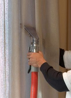 At Chem-Dry of NYC we offer a convenient, on-site drapery and window treatment cleaning method that can be done right inside your home. Our highly trained technicians are fully qualified to safely clean your valuable drapes and window treatments throughout your home or business. Our unique method of cleaning allows our customers to keep their valuable window treatments on the wall throughout our effective cleaning process! Call now to learn more (212) 355-3640