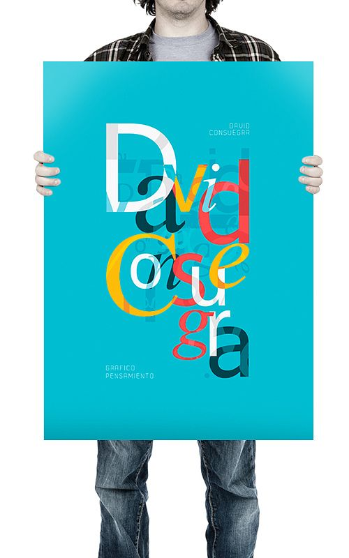 Typographic Poster by Oven , via Behance