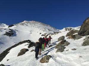 Snowshoe up to Lake Alta