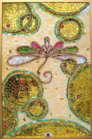 Golden mosaics by Laurel True - truemosaics.com