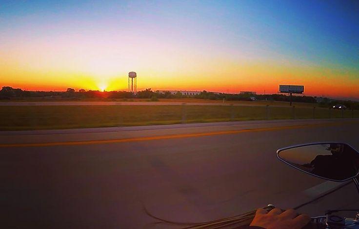 #Sunrise over #oklahomacity #morning #motorcycle #roadtrip ...