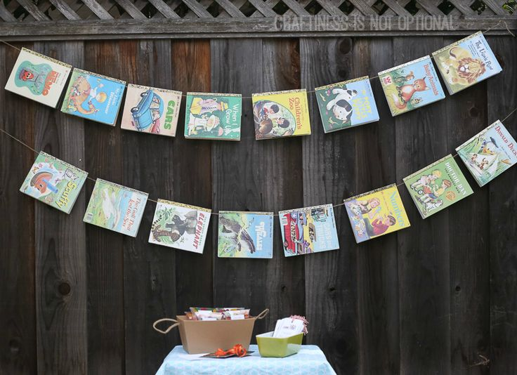 book baby shower (and free printables!) | craftiness is not optional | Bloglovin'