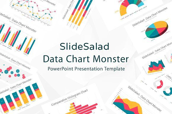 Data Chart PowerPoint Template by SlideSalad on @creativemarket