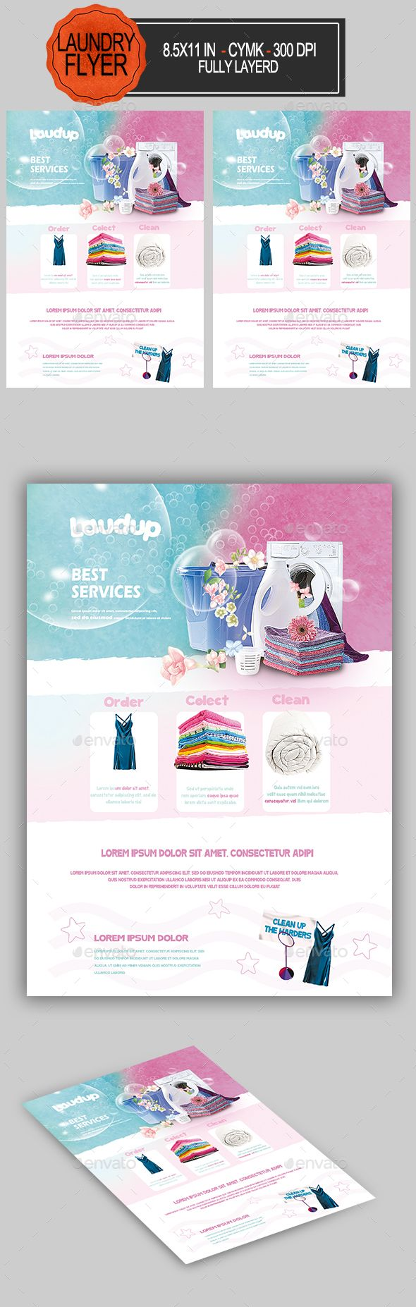 Laundry Flyer Miscellaneous Events Flyer Flyer Template Promotional Design