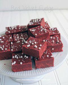 Ridiculously Easy Red Velvet Cake Batter Fudge