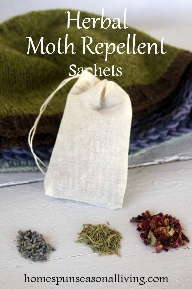 Use these herbal moth repellent sachets to naturally protect woolen clothing items from pests while in storage during the warmer months of the year.