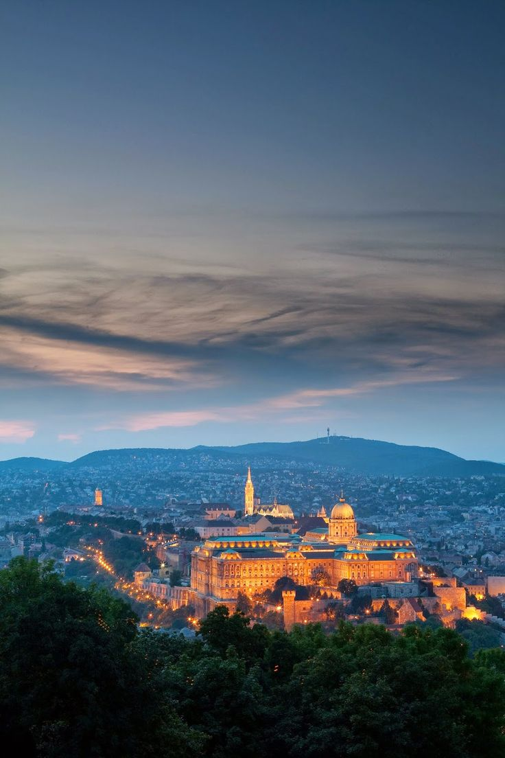 Buda Castle ~ seen from Gellert Hill Budapest, Hungary