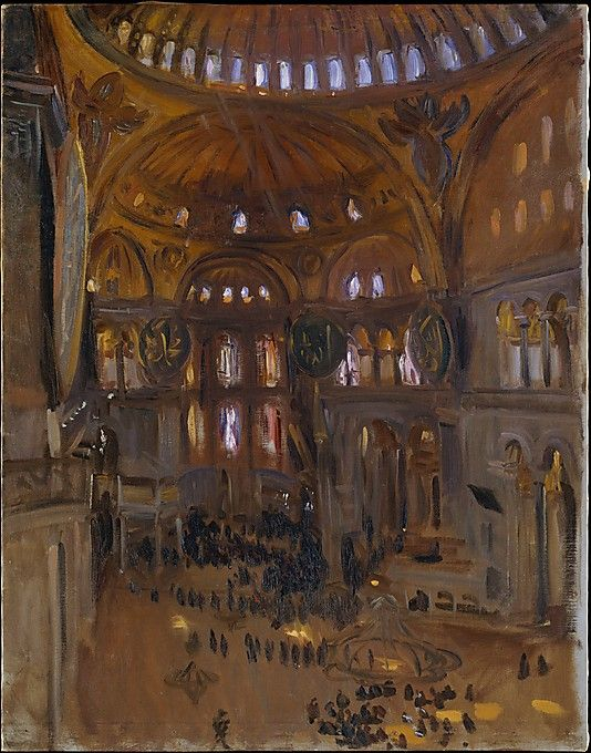 John Singer Sargent Santa Sofia, 1891 (?) Oil on wood Dimensions: 10 1/4 x 13 5/8 in. (26 x 34.6 cm) Metropolitan Museum of Art, NYC