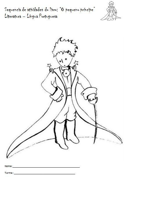 Coloring Page The Little Prince By Saint Exupery 3