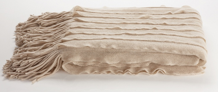 Dare Gallery Ripple Throw in Biscuit, $69