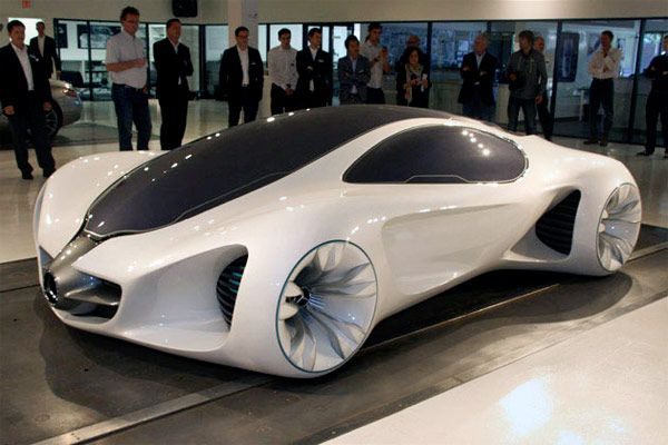 "Mercedes' Biome concept car, wonderful lines, and altered shape. The dream of this car is that it can be ""grown"" by using plant-based plastics and other organic composites making it environmentally friendly. Although Ford has actually been doing this for a few years now with different interior trim parts."
