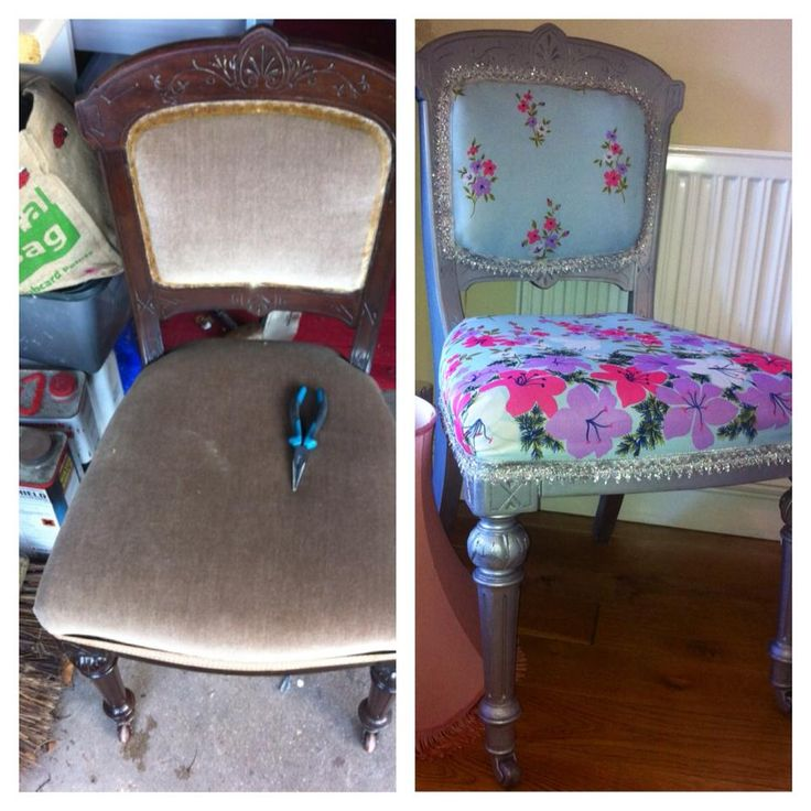 Upholstery. DIY. Victorian chair. Retro fabric. 50s.