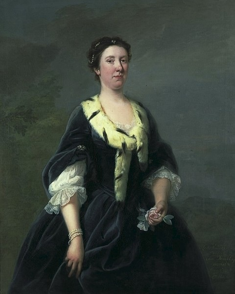 1720-1760 (between) Lady Oxenden, née Dunch attributed to Andrea Soldi (Canterbury City Museums - Canterbury, Kent UK)