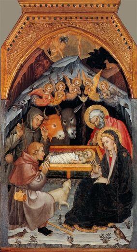 Taddeo di Bartolo, Adorazione dei pastori - Santa Maria dei Servi, Siena