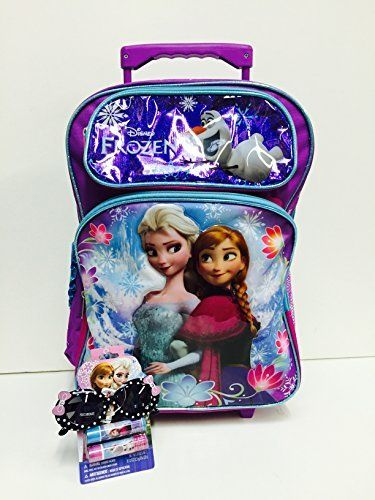 Disney Frozen Elsa and Anna 18 Large Rolling Backpack and One Bonus Gift Set @ niftywarehouse.com #NiftyWarehouse #Frozen #FrozenMovie #Animated #Movies #Kids