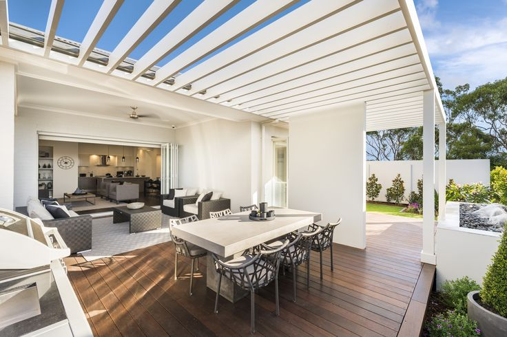 Vienna display home by McDonald Jones. Oran Park Sydney. #displayhome #displayhomes #mcdonaldjones #mcdonaldjoneshomes #oranpark #alfresco #outdoorliving