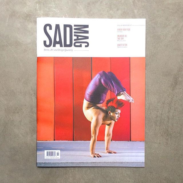 This past weekend I attended the launch of @sadmagazine The Movement Issue in Vancouver. A cool local mag with collaborations from great photographers and writers of the city. The photo essay with #vixenvonflex is amazing!  #indiemags #vancouver #print #contortion #movement