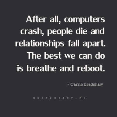 breathe and reboot sex and the city quote in Tacoma