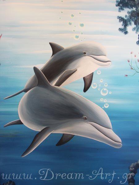 Βυθός με δελφίνια στο 'Χαμόγελο του παιδιού'