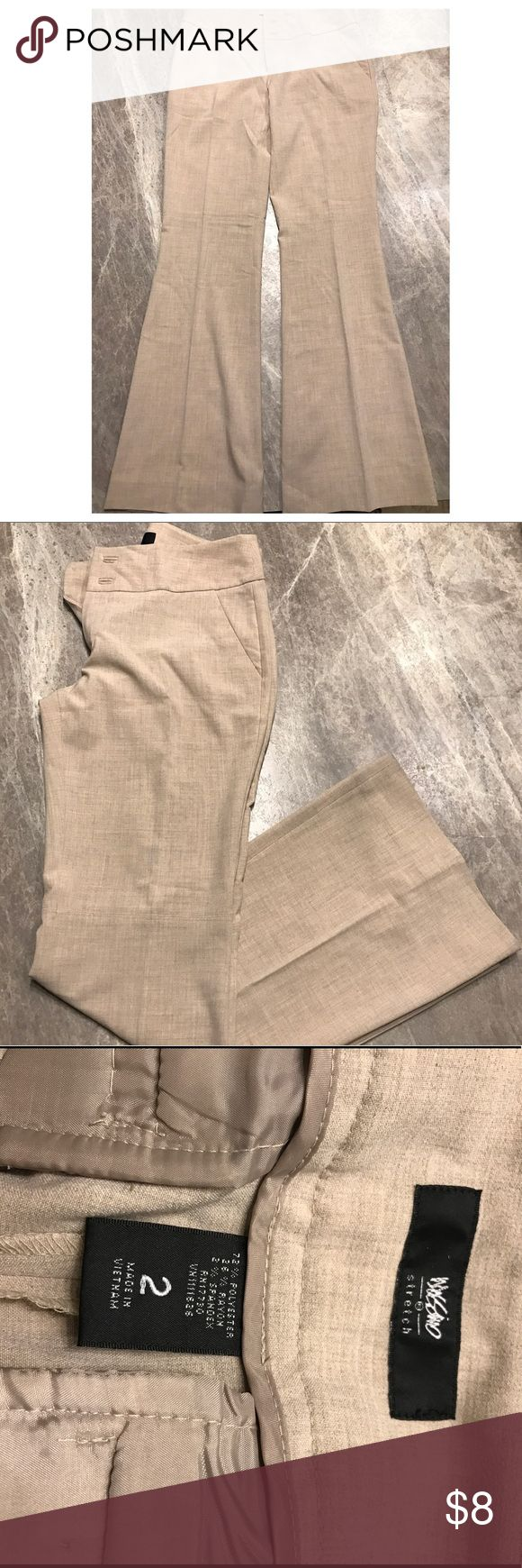 Mossimo stretch, dress pants Mossimo dress pants size 2. NWOT. Slight flare. Light tan color. Mossimo Supply Co Pants Boot Cut & Flare
