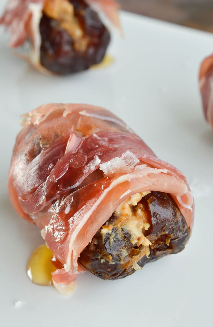 Prosciutto Wrapped Dates Stuffed with Goat Cheese and Fig Butter make ...