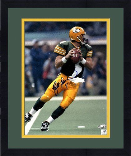 Brett Favre Signed Photo - Framed 8x10 - GA Certified - Autographed NFL Photos by Sports Memorabilia. $154.98. Brett Favre Signed 8x10 Photo - Green Bay Packers - GA. Favre holds many NFL records including most career passing yards, most career touchdown passes, and most consecutive starts. Like every item we sell, this piece has been evaluated for quality by our dedicated staff. Finding good pieces from Brett Favre isn't easy since he rarely participates in memorabilia signin...