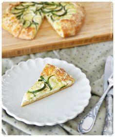 Zucchini Galette mit Ricotta - mit selbst gemachtem Topfenteig