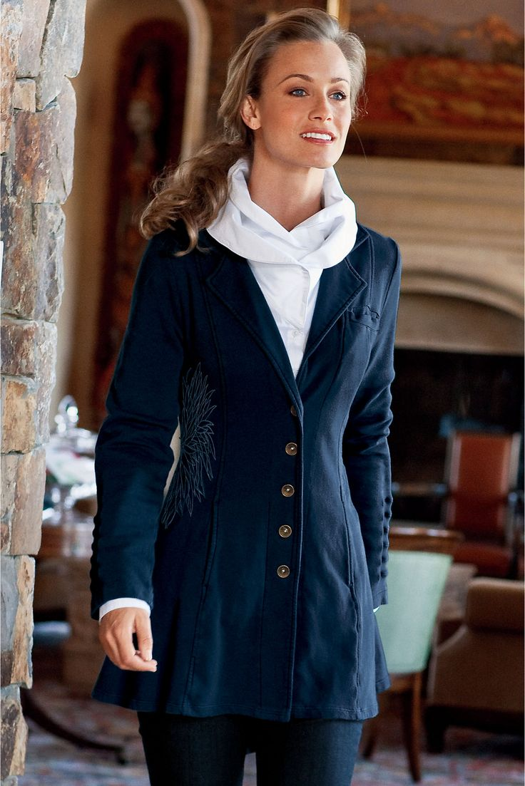 Tallulah Jacket - A combo of jacket and sweatshirt | Soft Surroundings