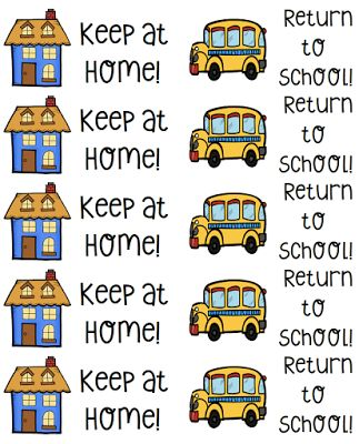 "Label students' Take Home Folders with ""Keep at Home"" and ""Return to School"" stickers to help organize and manage the paperwork going from school to home."