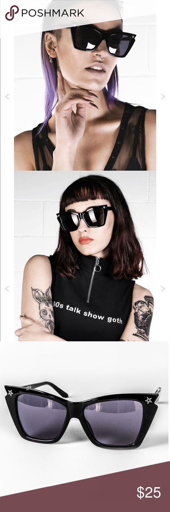 DISTURBIA No Wave Sunglasses DISTURBIA No Wave Sunglasses. NEW IN ORIGINAL PACKAGING. comes with branded storage cloth as well. perfect condition. these sunglasses are super dark with amazing huge frames. Disturbia Accessories Sunglasses