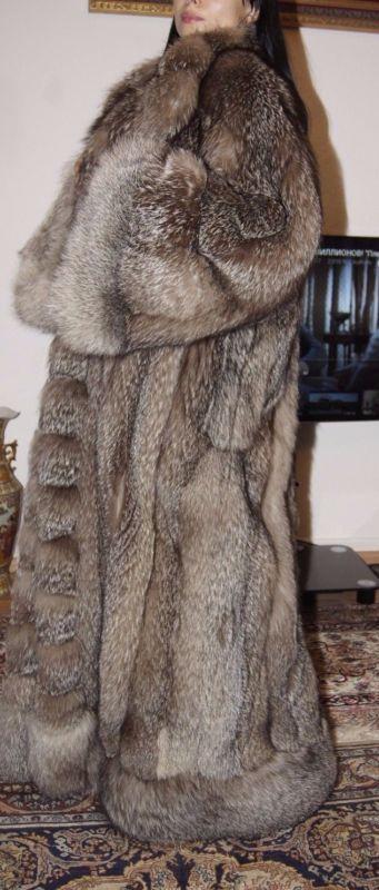 Crystalfuchs XXXL renard long renard manteau manteau de fourrure poils fourrure