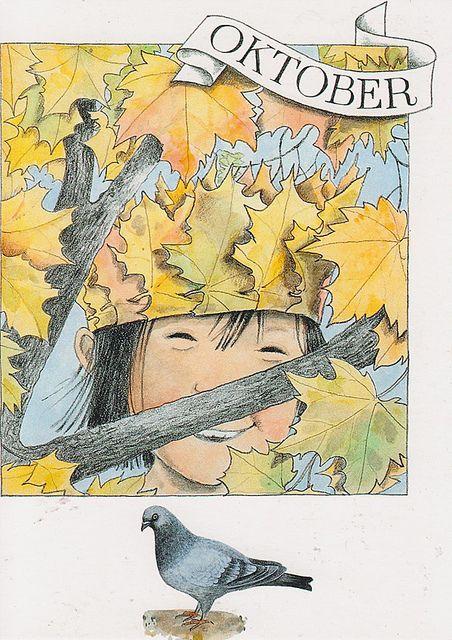 OCTOBER SIMPLE PLEASURES (Print by Lena Anderson)