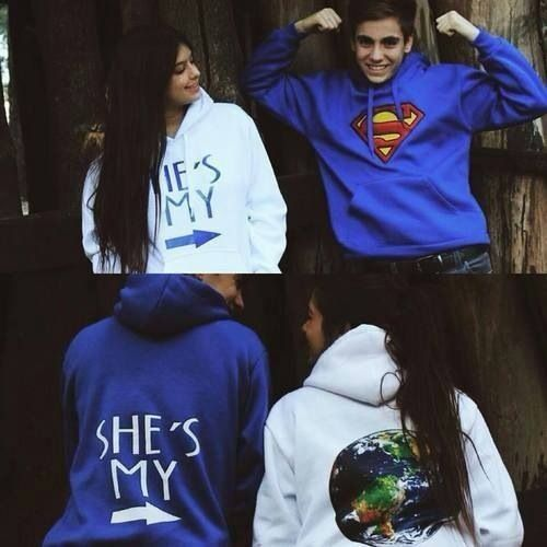 Hes my superman, shes my world