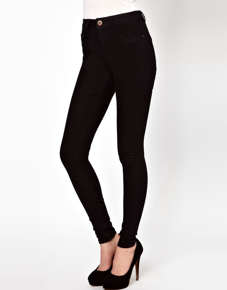 asos asos ridley high waist ultra skinny jeans in clean. Black Bedroom Furniture Sets. Home Design Ideas