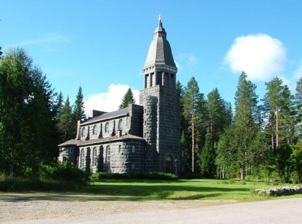Konnevesi church ..built of granite in 1922...