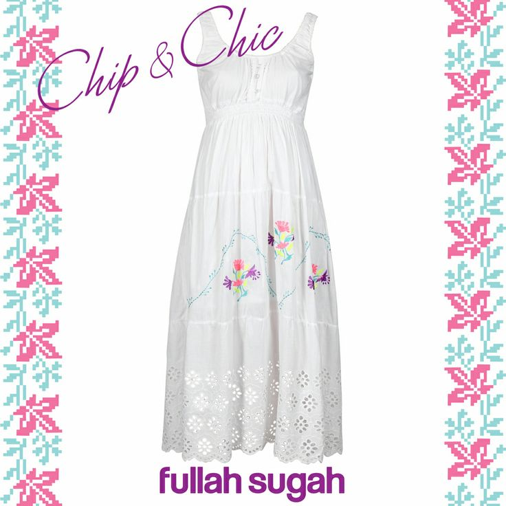 FULLAHSUGAH Κοφτό Φόρεμα με floral κέντημα  14221035 #fullahsugah #fullah_sugah #SS2014 #fashion #shopping #on_line_shop #dress