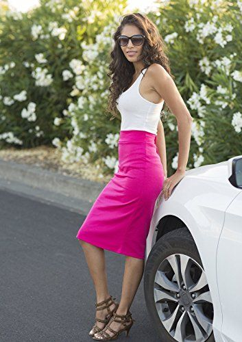 Women's Below the Knee Pencil Skirt for Office Wear - Made in USA #skirtsuit  #skirts