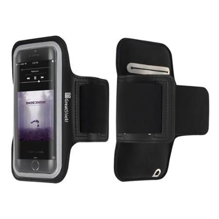 "FIT Armband Case - GreatShield Stretchable Neoprene Sport Armband Case with Key Storage for Apple iPhone 6/6s 4.7"" - Walmart.com"