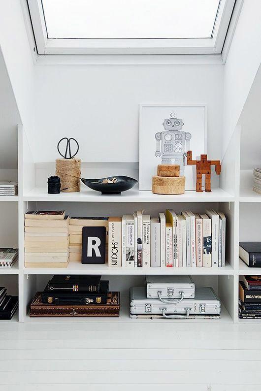 10 snygga bokhyllor- både platsbyggda att göra själv och färdiga lösningar
