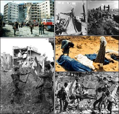 bloody civil war was fought in Lebanon from 1975