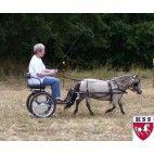 "Easy Entry Small Mini Horse Cart Metal Floor w/45"" Shafts w/Heavy Duty Bike Wheels"