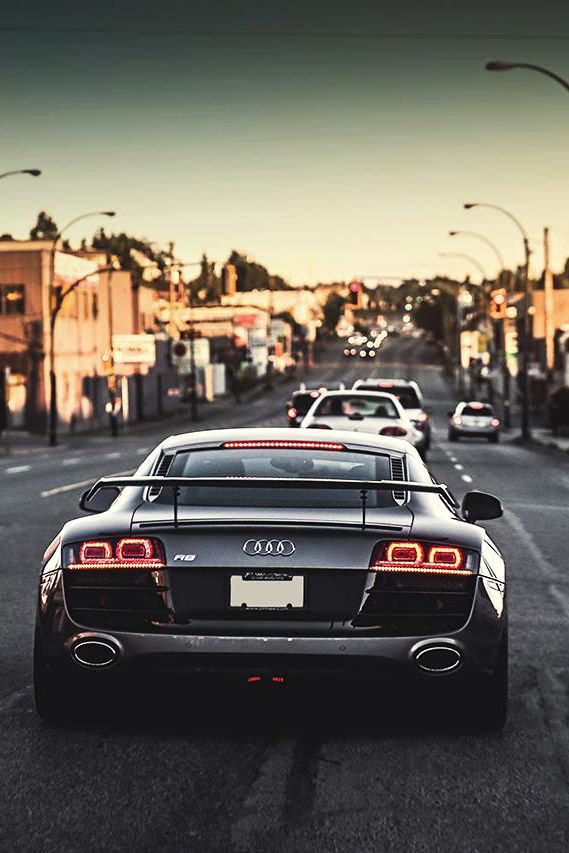 themanliness:  Audi R8 Crusin | Source | MVMT | Facebook  .