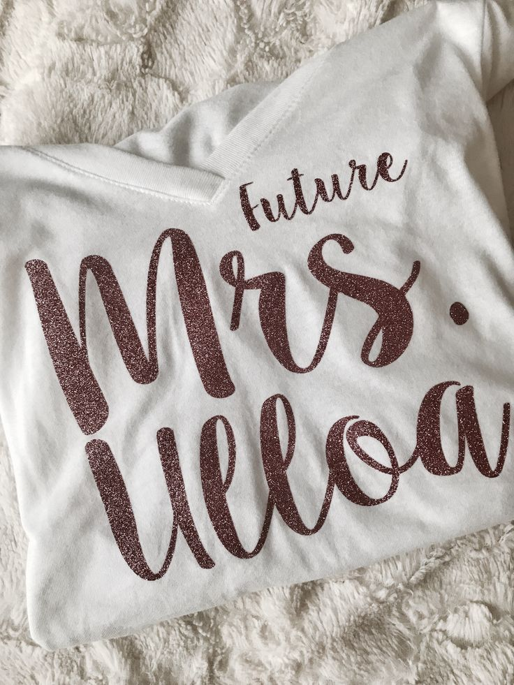 Thoughtful Wedding Gifts Future Mrs Shirt