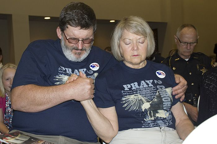 Photo gallery: Area residents participate in National Day of Prayer at University of Northwestern Ohio Event Center in Lima.